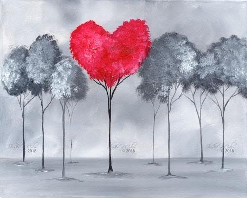 """12-13-18 """"Foggy Love""""  Adult Paint Event  - 5:30 p.m"""
