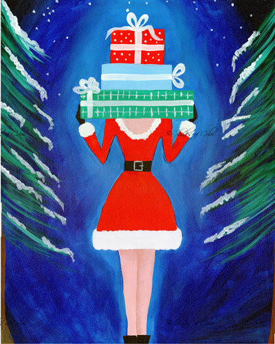 "12-20-18 ""Santa's Elf""  Adult Paint Event  - 5:30 p.m"