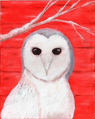 "12-29-18 ""Snowy Owl""  Adult Paint Event  - 5:30 p.m"