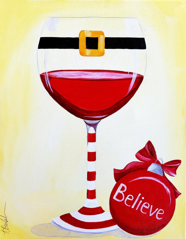 """12-21-18 """"Believe""""  Adult Paint Event  - 5:30 p.m"""