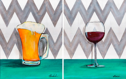 "January 04 2019 ""Beer vs Wine""  Adult Paint Event  - 5:30 p.m"