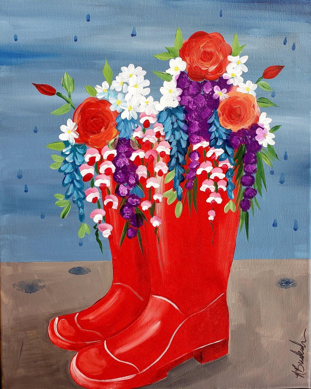 "January 05 2019 ""Rain Boots""  Adult Paint Event  - 5:30 p.m"