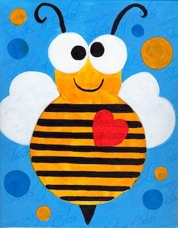 "02-09-19 ""Bee Mine"" Family Paint Event  - 12pm"