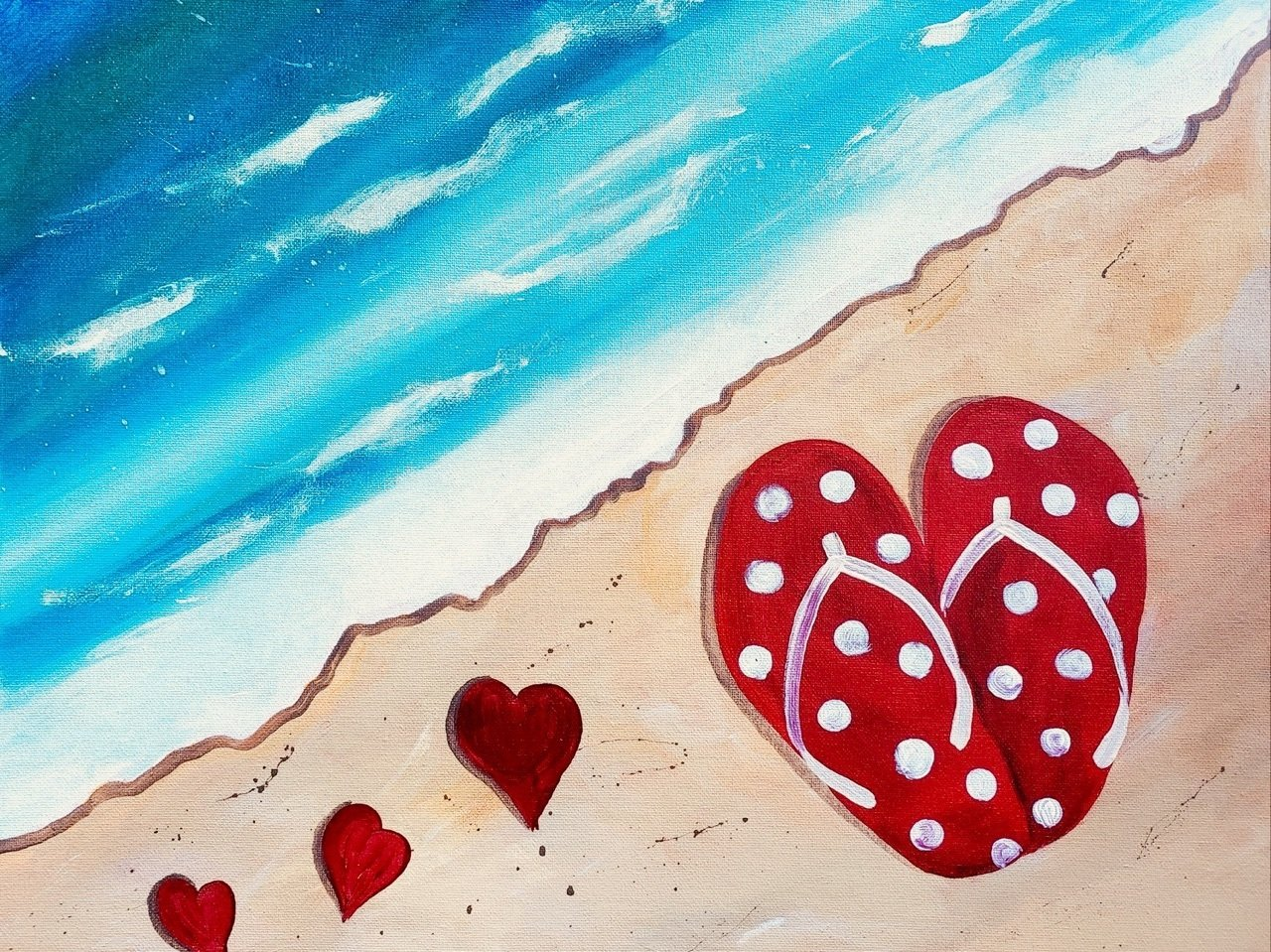 "01-26-19 ""Hearts""  Adult Paint Event  - 5:30 p.m"