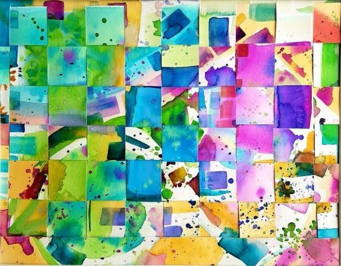 """01-09-19 """"Watercolor Weaving"""" 5:30 p.m."""