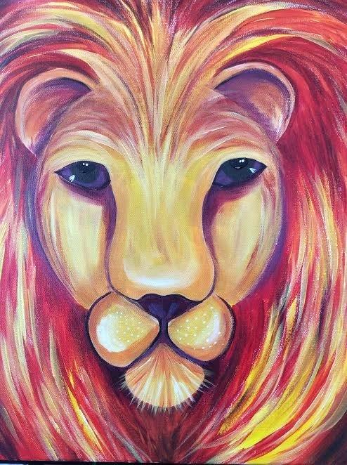 """02-09-19 """"Lion""""  Adult Paint Event  - 5:30 p.m"""