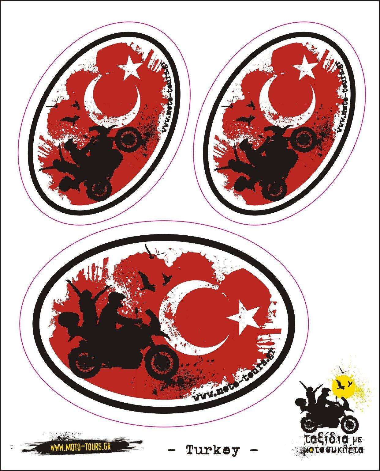 Σετ αυτοκόλλητα Τουρκία ST-F01