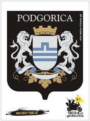 Αυτοκόλλητο Podgorica (MNE)