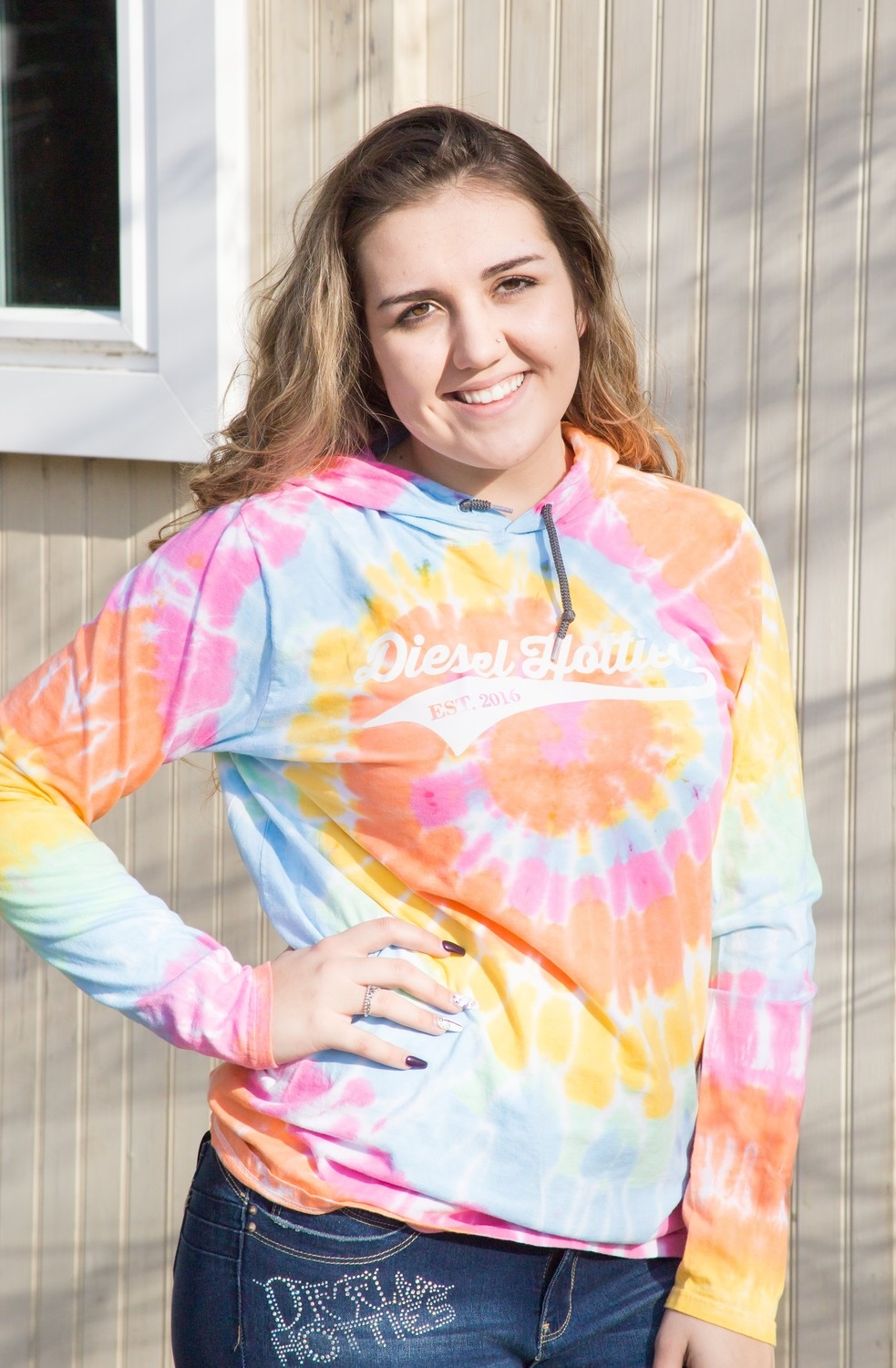 Light Weight Hooded Pullover Swoosh tie-dyed
