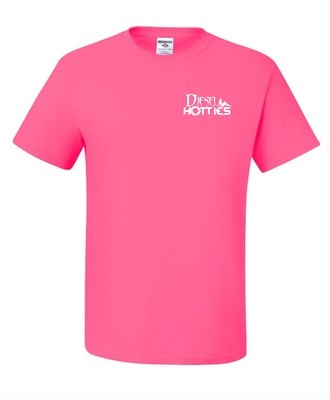 Mens Hot Pink Short Sleeve Tee