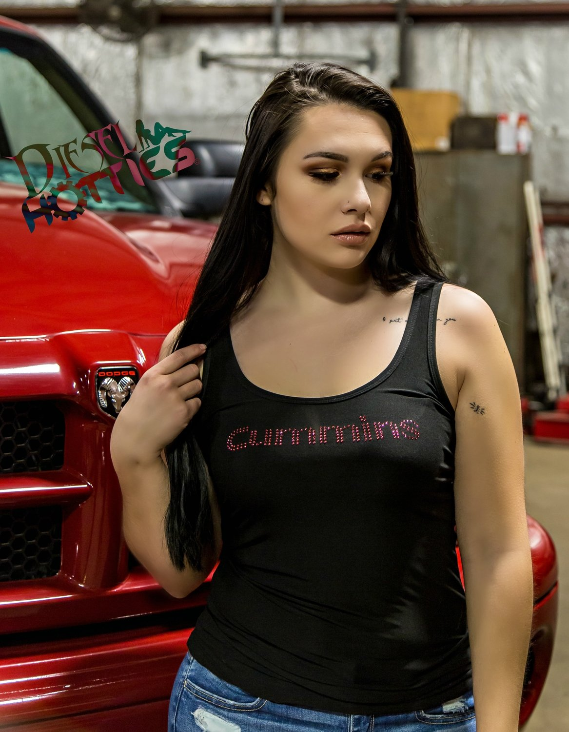Diesel Hotties Black Cummins Tank
