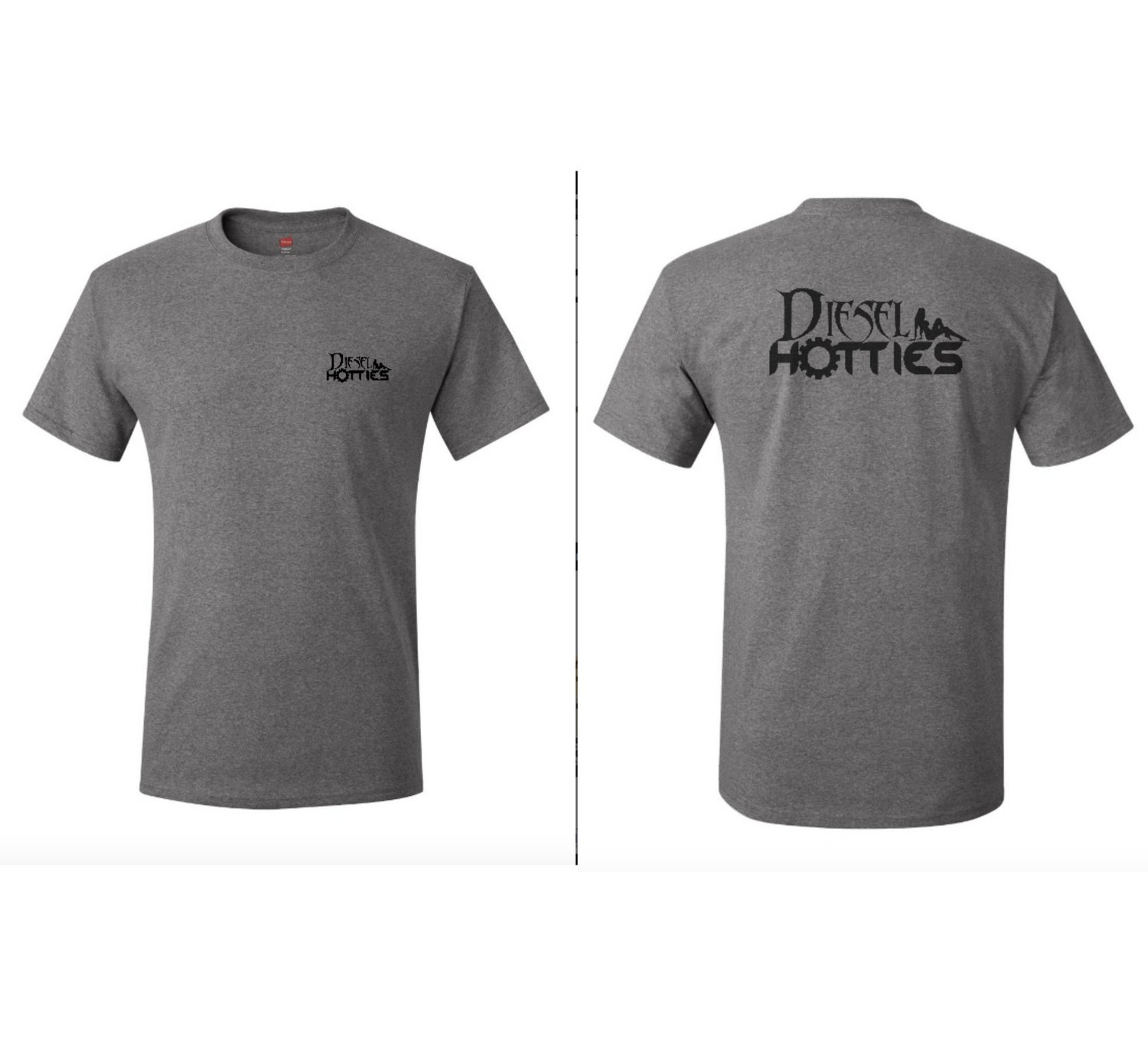 Mens Grey Short Sleeve Tee
