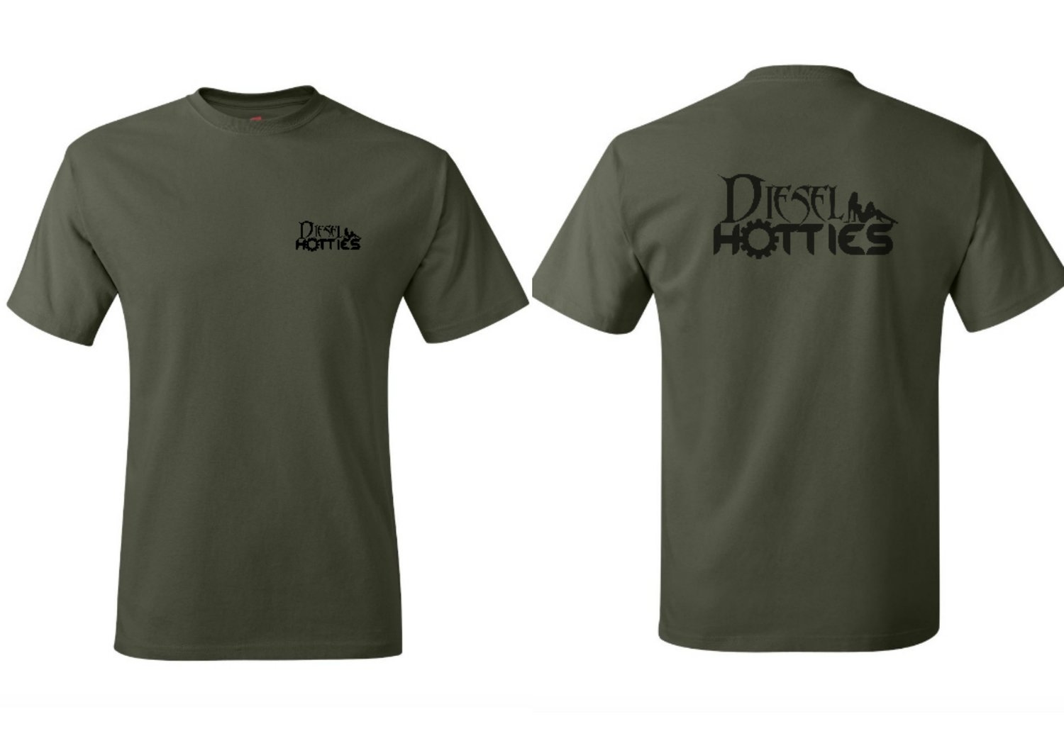 Mens Military Green Short Sleeve Tee