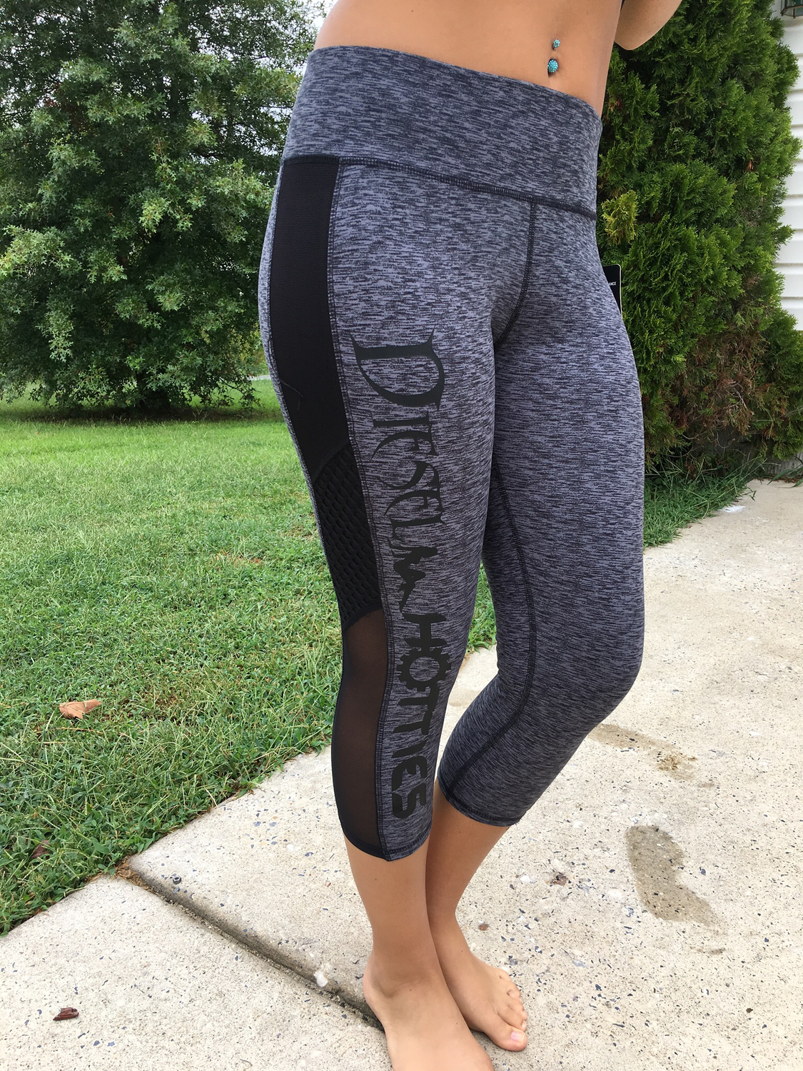 DH Game Time Capri Leggings Grey & Black
