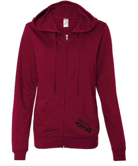 Lightweight Zip Hooded Jacket (Red)