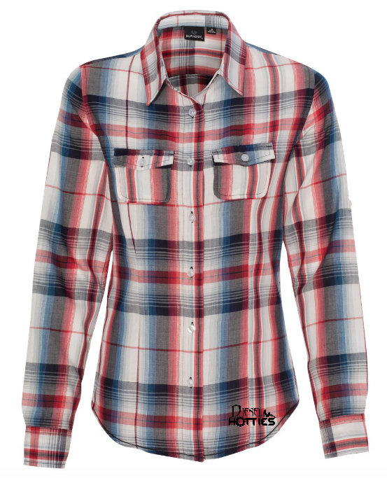 DH Women's Long Sleeve Plaid Shirt