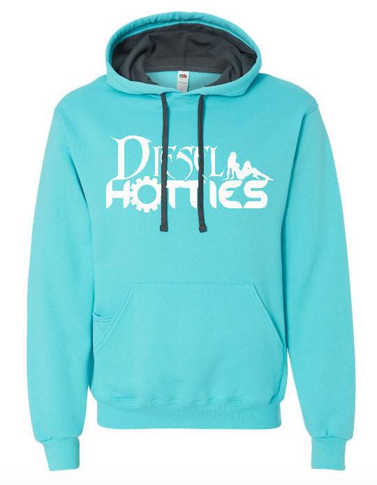 Sofspun Hooded pullover Sweatshirt (Scuba Blue)