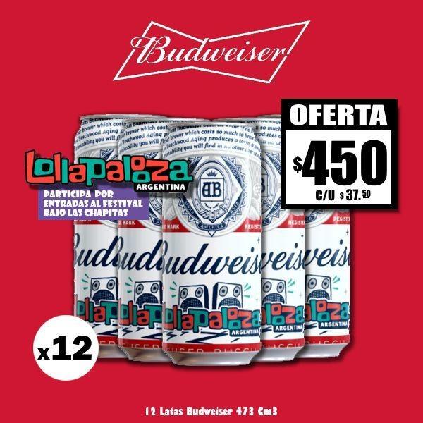 Bud Lollapalooza Lata 500x12