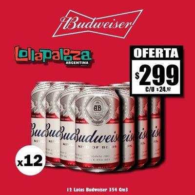 Lata Budweiser 354Cm3 x12
