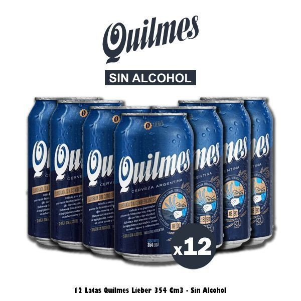 Quilmes Lieber 354cm3 x12 Sin Alcohol