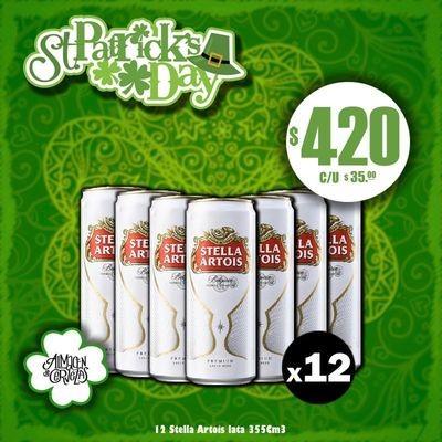 St Patrick's Day - Lata Stella Artois 355Cm3 x12