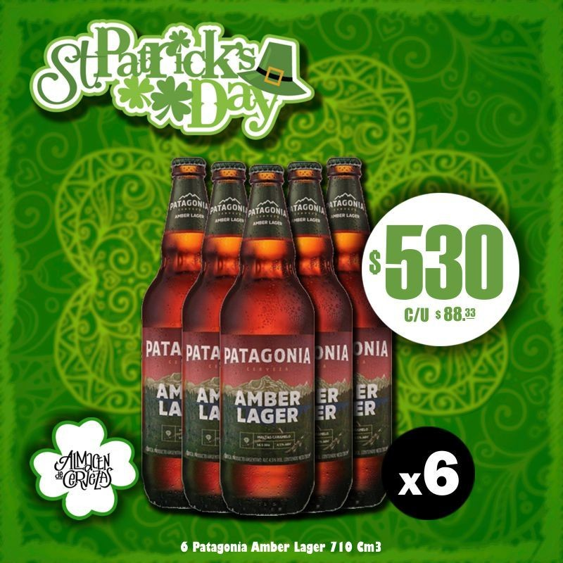 St Patrick's Day - Patagonia Amber Lager 710Cm3 x6