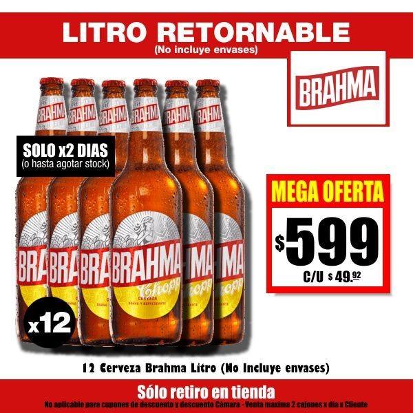 MEGA OFERTA Brahma Litro x12
