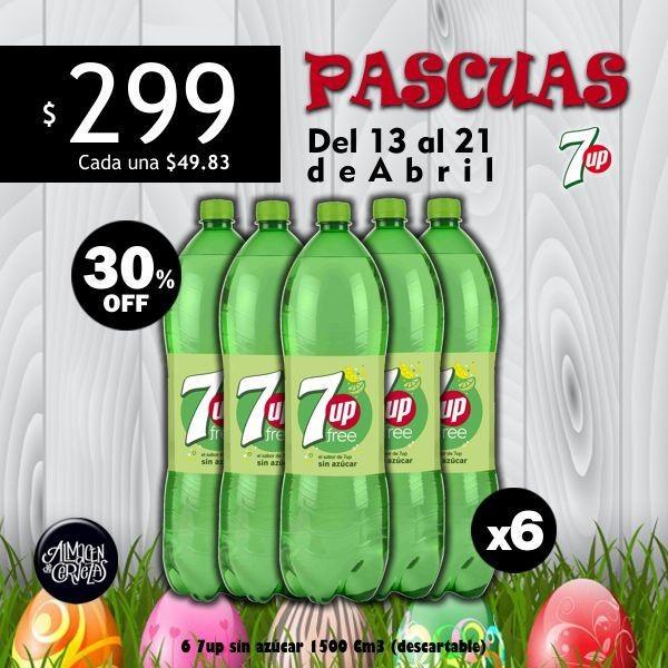 PASCUAS - 7up sin azúcar 1500 x6
