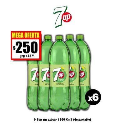MEGA OFERTA - 7up sin azúcar 1500 x6
