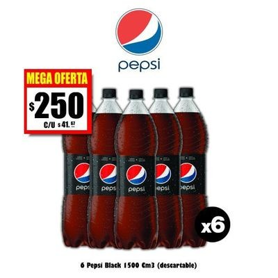 MEGA OFERTA - Pepsi Black 1500 x6