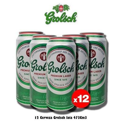 Grolsch Lata 473Cm3 x12