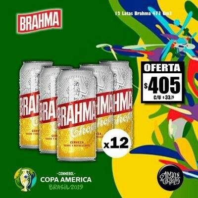 Copa América - Brahma Lata 473 x12