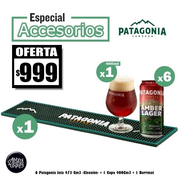 6 Latas Patagonia + 1 Beer Mat Patagonia