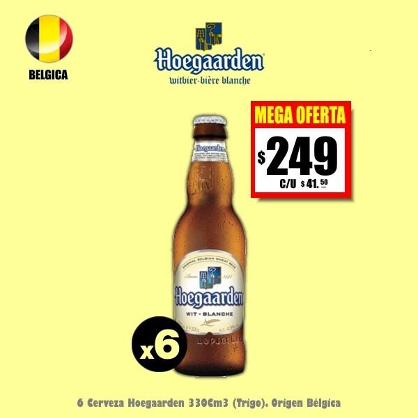 MEGA OFERTA -Hoegaarden 330Cm3 x6