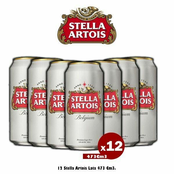 Lata Stella Artois 473Cm3 x12