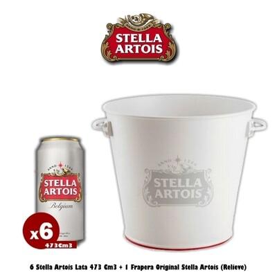 6 Latas Stella + Frapera