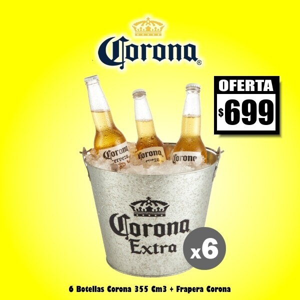 Oferta - Frapera Corona + 6 Corona