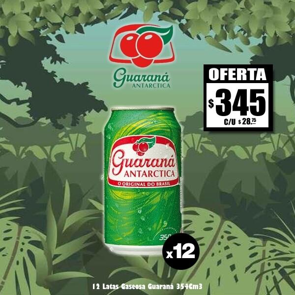 OFERTA - 12 Latas Guaraná (Cero Azúcar)