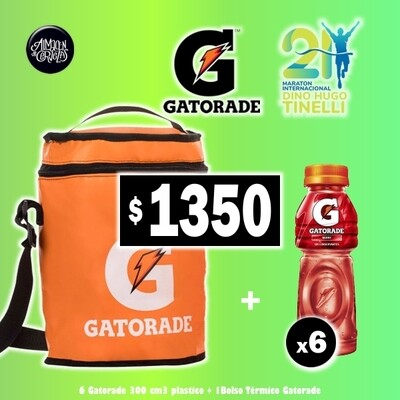 OFERTA - Bolso + 6 Gatorade 300Ml