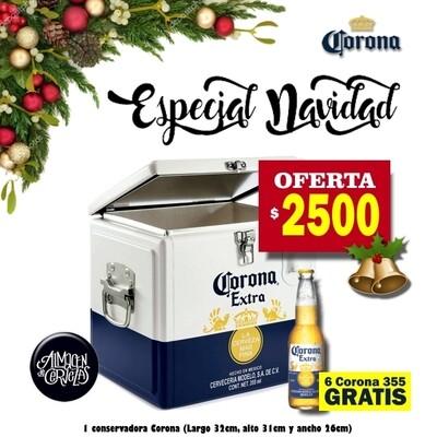 ESPECIAL NAVIDAD - Cooler Corona + 6 Corona GRATIS
