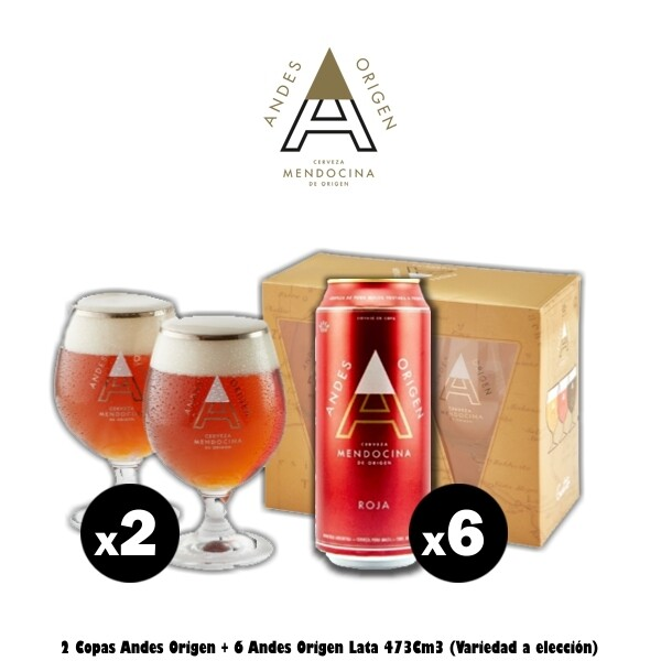 6 Latas Andes + 2 Copas Andes