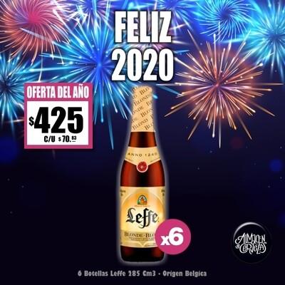 FELIZ 2020- Leffe Blond 290 Cm3 x6
