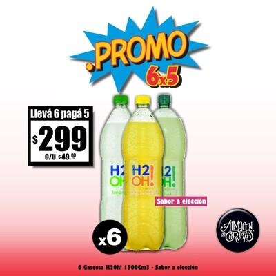 PROMO 6X5 - H2oh! 1500Cm3 x6
