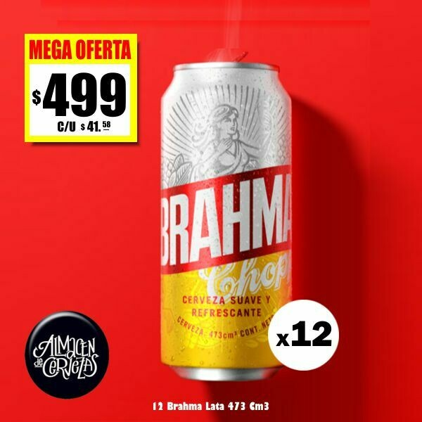MEGA OFERTA - 12 Brahma Lata 473Cm3