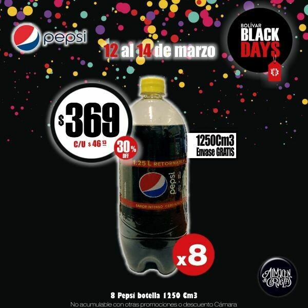 BLACK DAYS - Pepsi 1250Cm3 x8