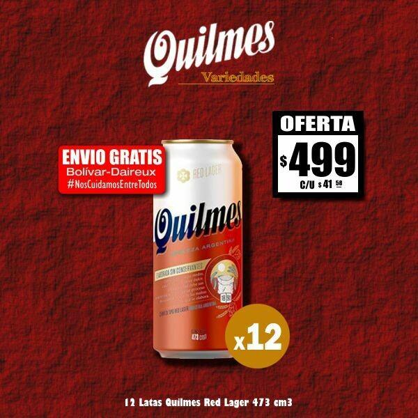 #QuedateEnCasa - 12 Quilmes Red Lager Lata 473Cm3