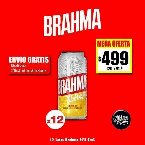 #QuedateEnCasa -Brahma Lata 473Cm3 X12