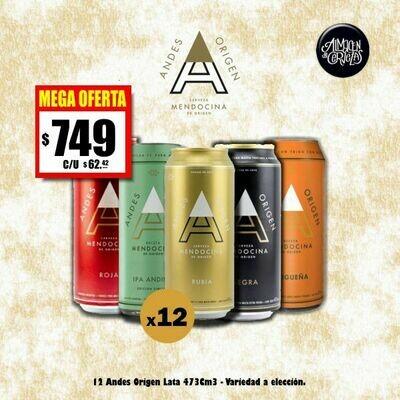 MEGA OFERTA - 12 Andes Origen Lata 473 Cm3
