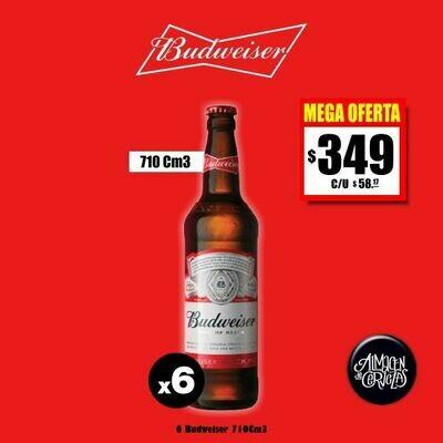 MEGA OFERTA - Budweiser 710Cm3 x 6 Descartable