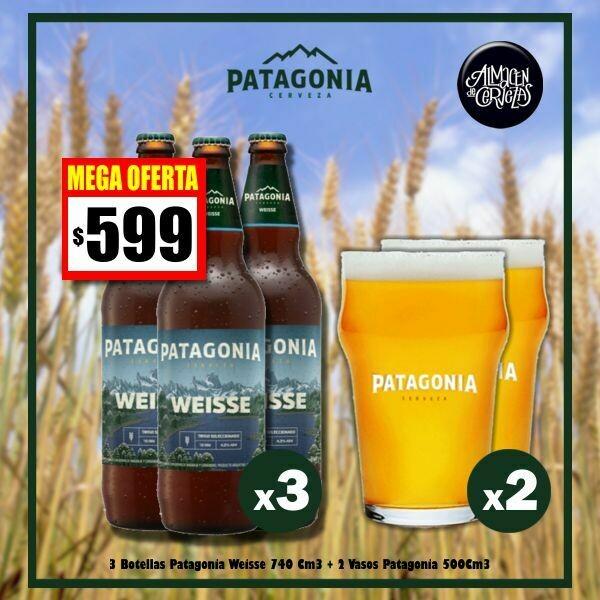 MEGA OFERTA - 3 Pat. Weisse + 2 Vasos 500cc